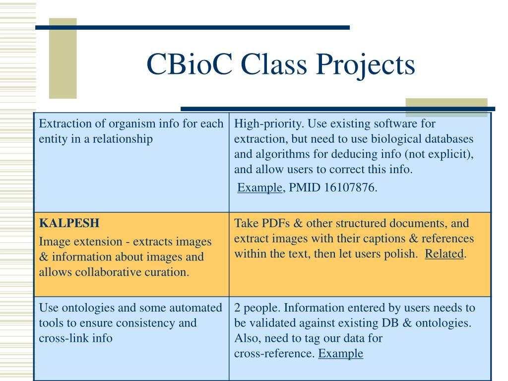 CBioC Class Projects