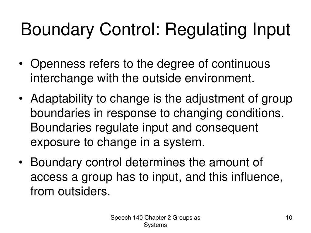 Boundary Control: Regulating Input
