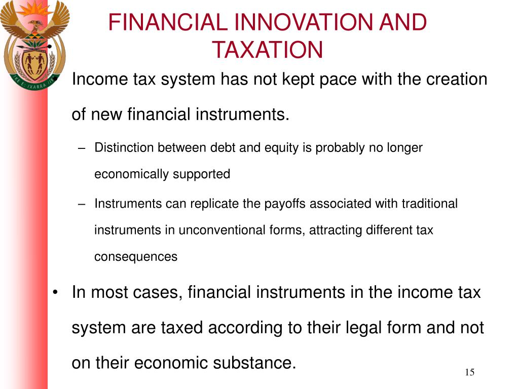 FINANCIAL INNOVATION AND TAXATION