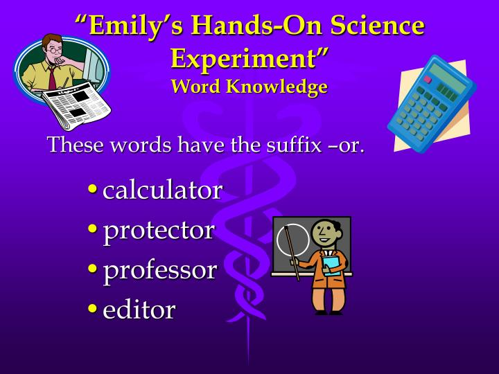 Emily s hands on science experiment word knowledge