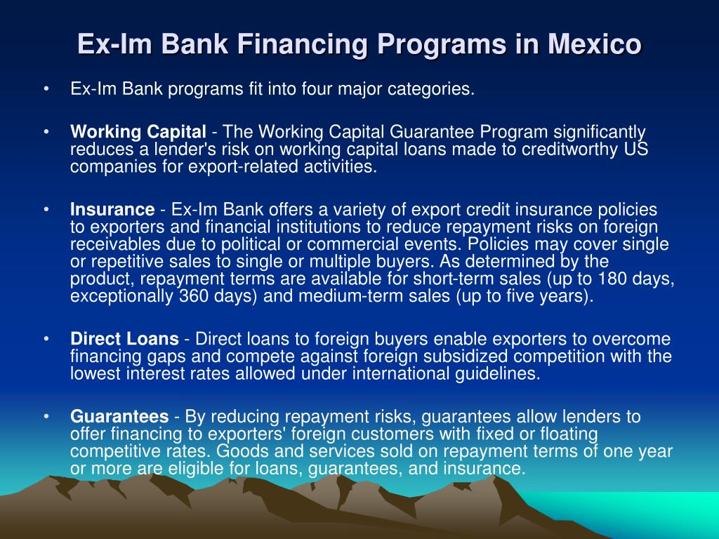 Ex-Im Bank Financing Programs in Mexico