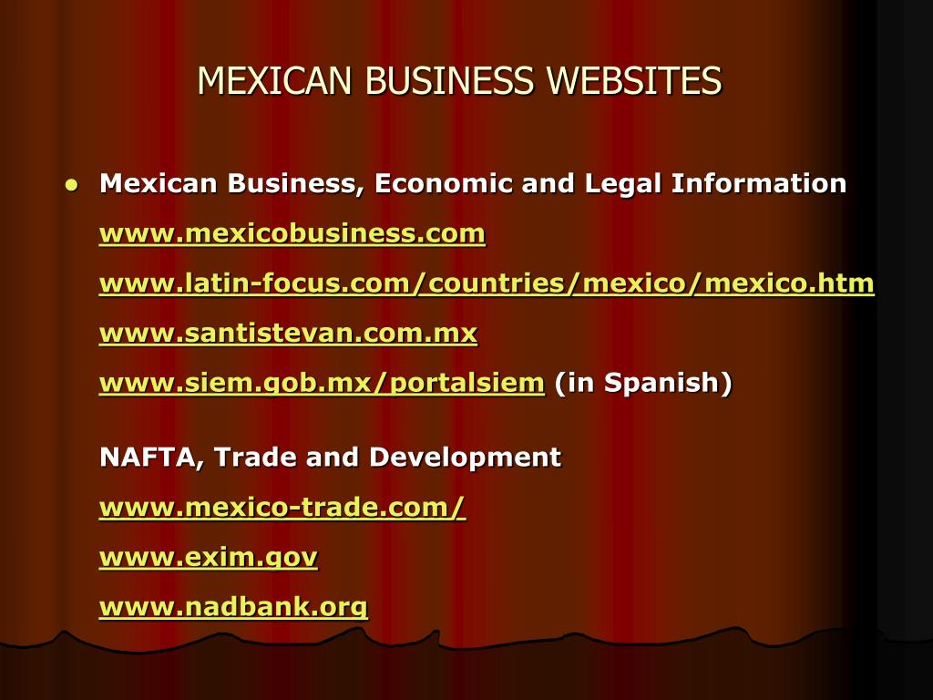 MEXICAN BUSINESS WEBSITES