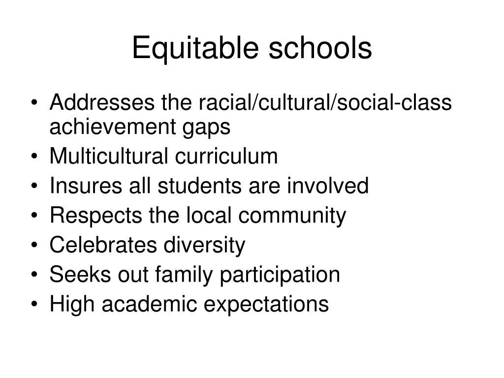 Equitable schools