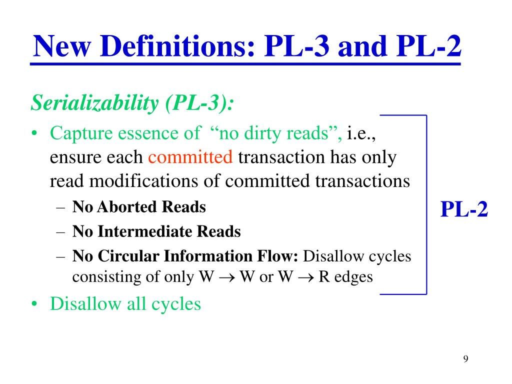 New Definitions: PL-3 and PL-2