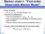 markov chain first order observable markov model