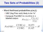 two sets of probabilities 2