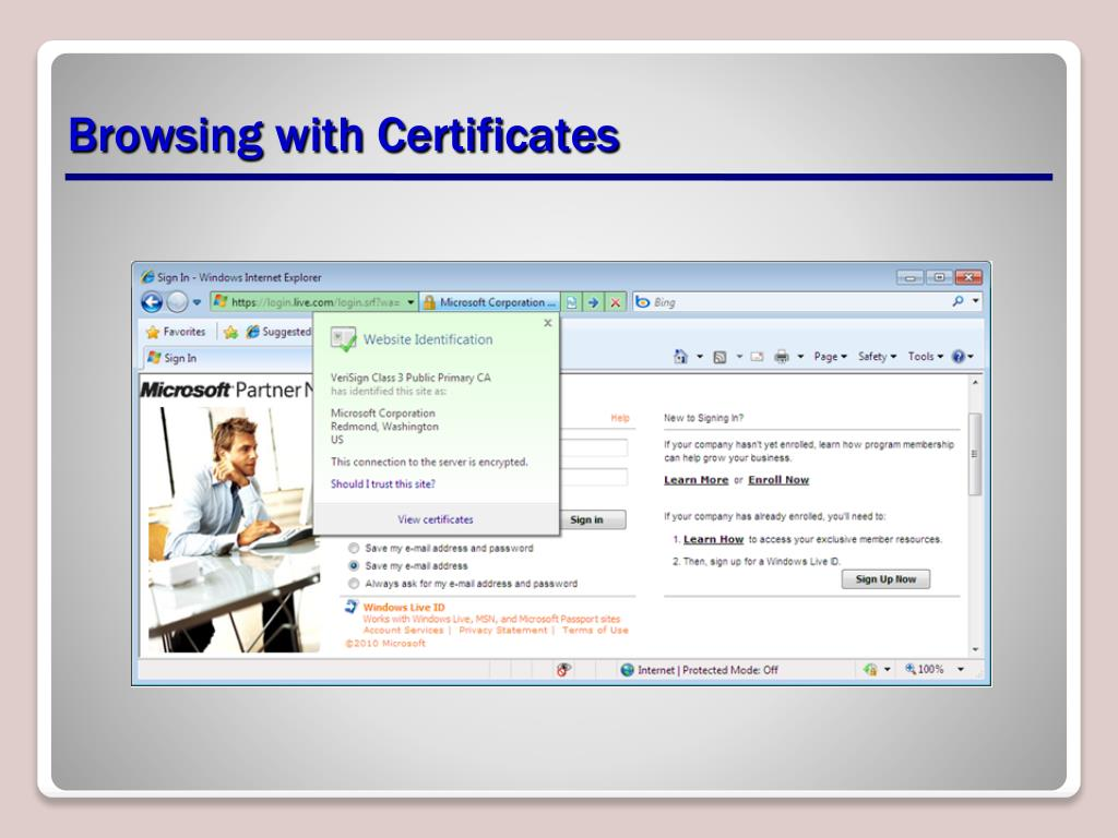 Browsing with Certificates