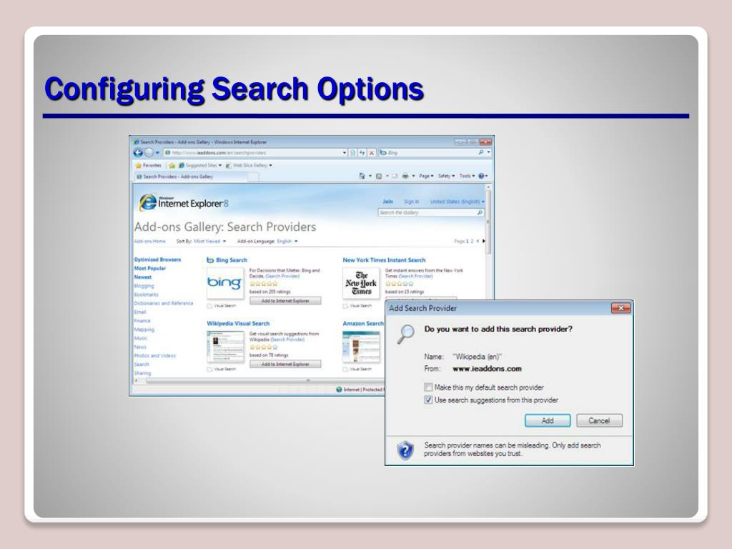 Configuring Search Options
