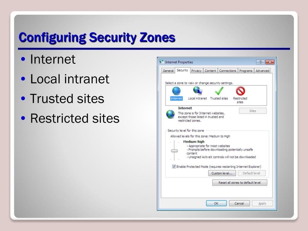 Configuring Security Zones