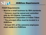 hubzone requirements