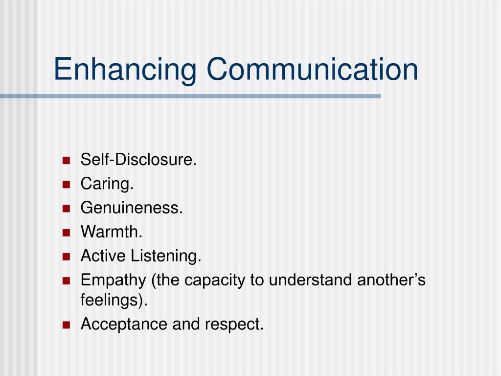 Enhancing Communication