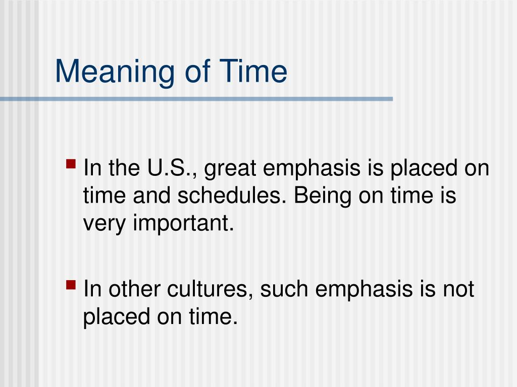 Meaning of Time