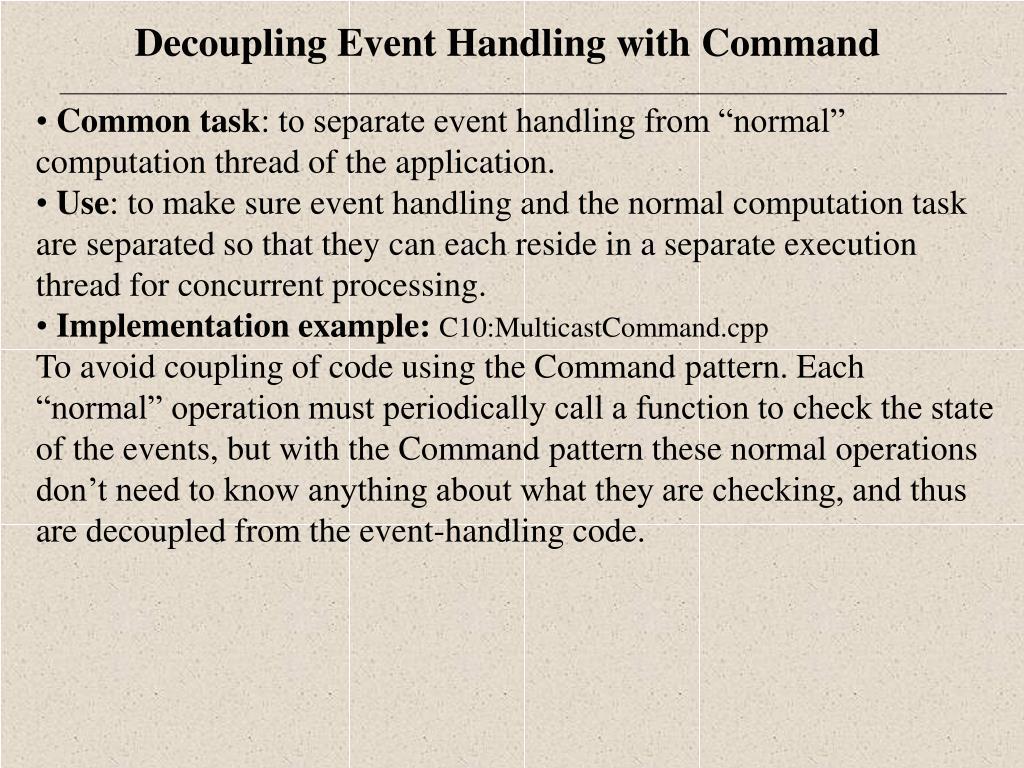Common task