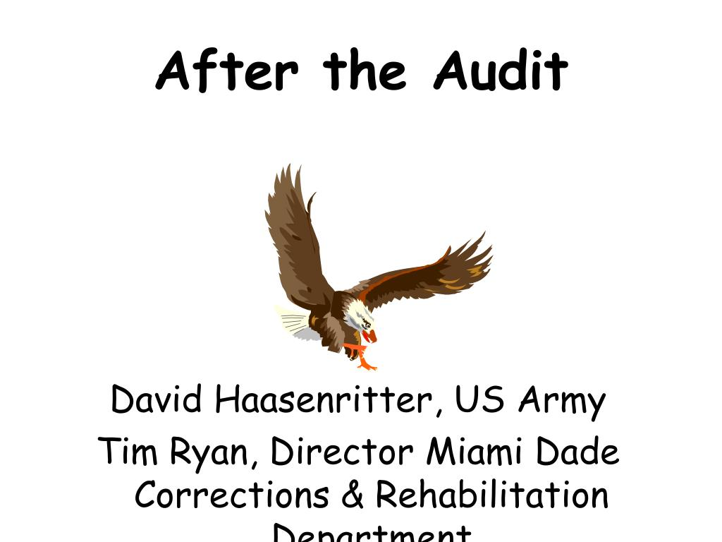 after the audit