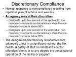 discretionary compliance