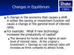 changes in equilibrium