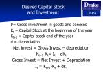 desired capital stock and investment
