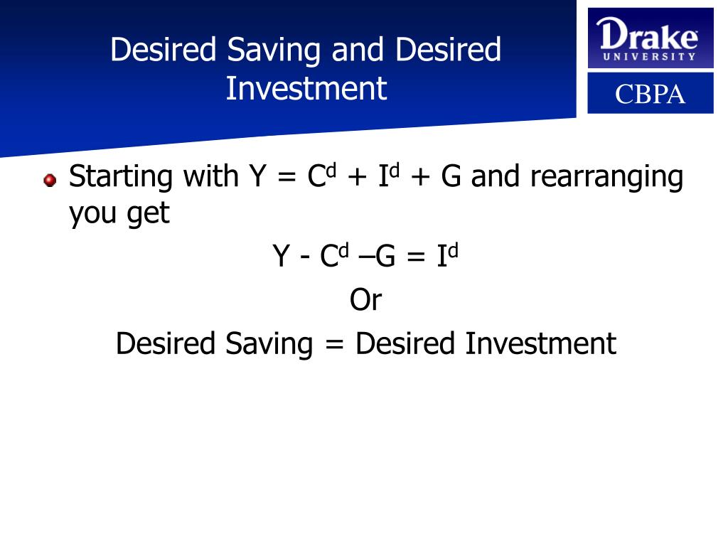Desired Saving and Desired Investment
