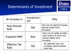 determinants of investment