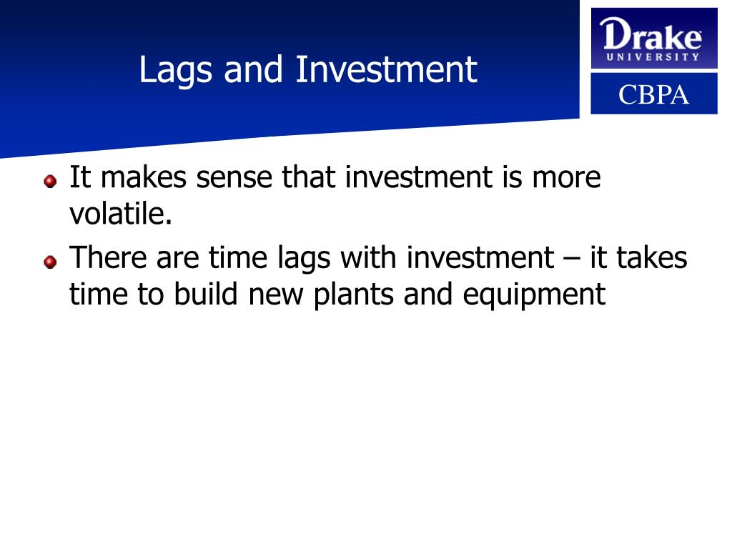 Lags and Investment