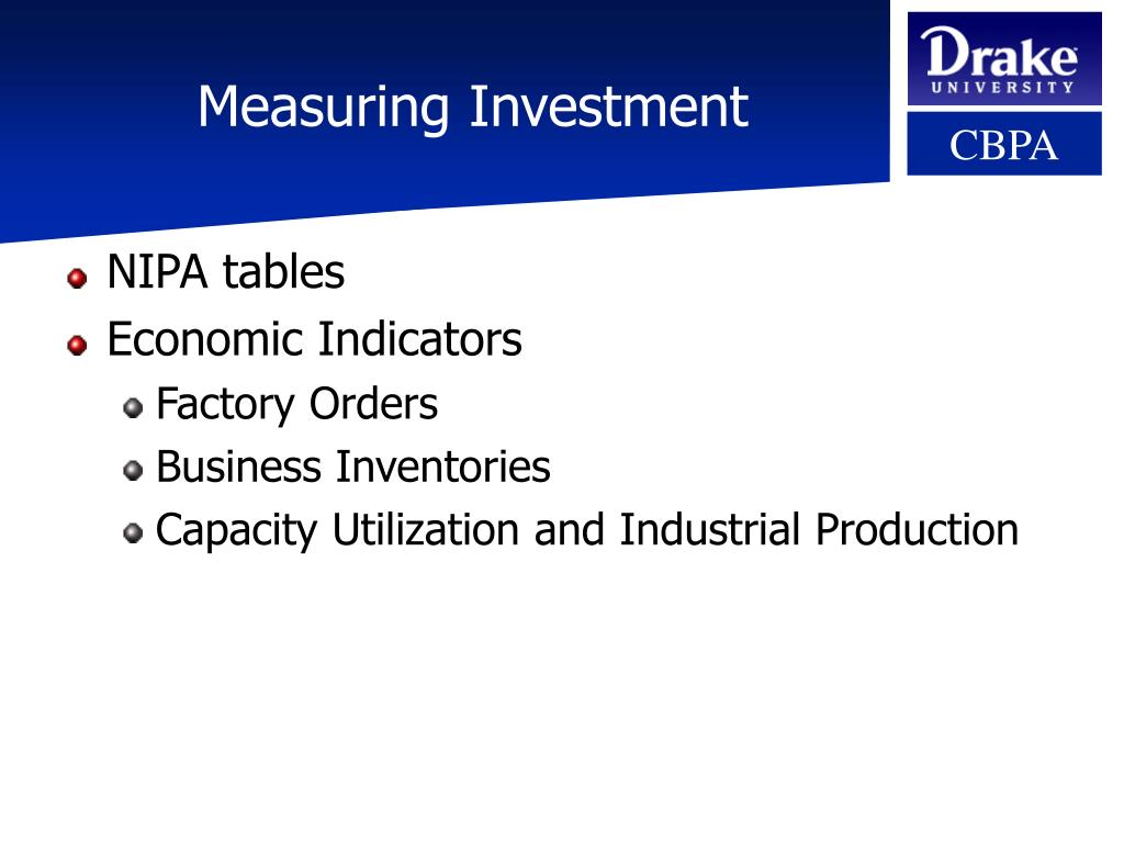 Measuring Investment