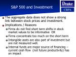 s p 500 and investment