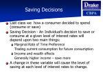 saving decisions33