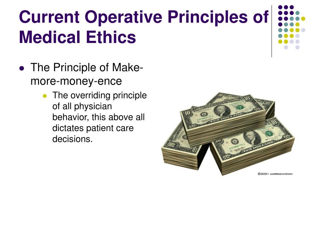 Current Operative Principles of Medical Ethics