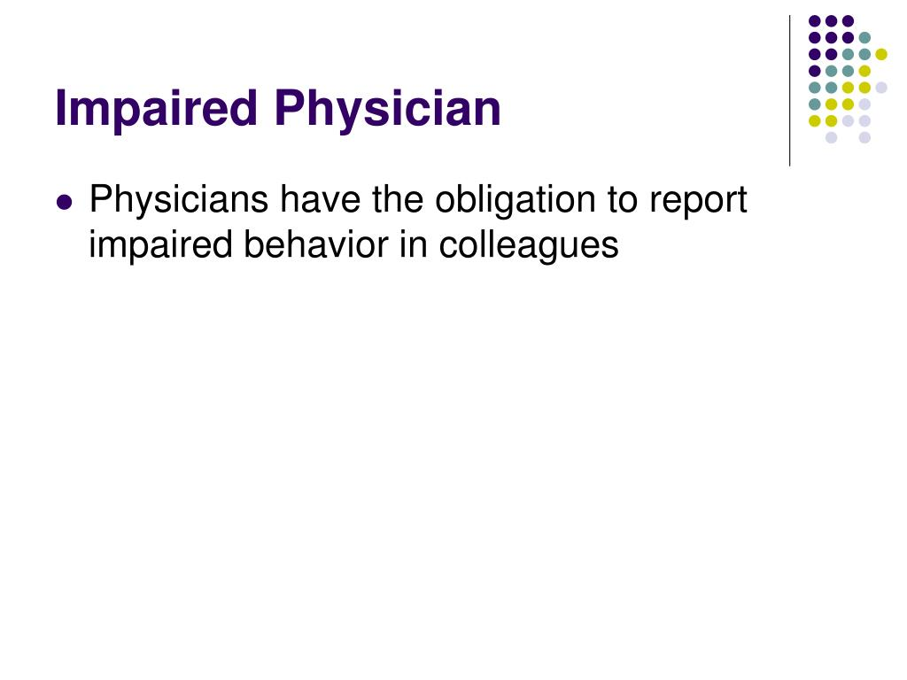 Impaired Physician