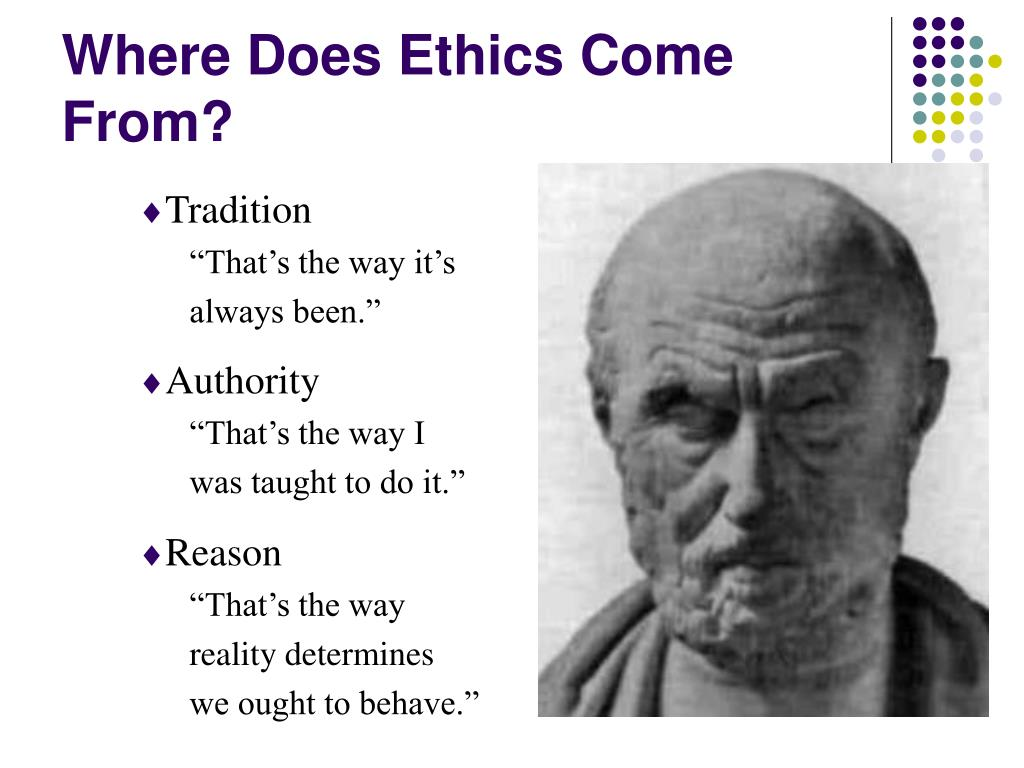 Where Does Ethics Come From?