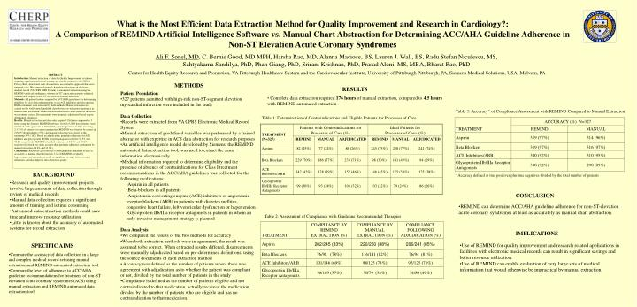 What is the Most Efficient Data Extraction Method for Quality Improvement and Research in Cardiology...