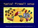 typical firewall setup