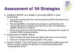 assessment of 04 strategies6