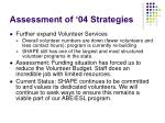 assessment of 04 strategies8