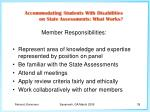 member responsibilities