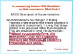 nceo description of accommodations