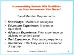 panel member requirements