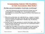 scribe accommodation footnote continued