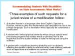 three examples of such requests for a juried review of a modification follow