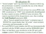evaluation i