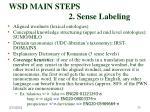 wsd main steps 2 sense labeling