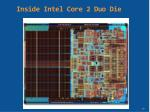 inside intel core 2 duo die