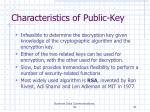 characteristics of public key