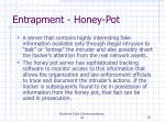 entrapment honey pot