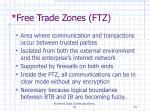 free trade zones ftz