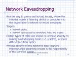 network eavesdropping