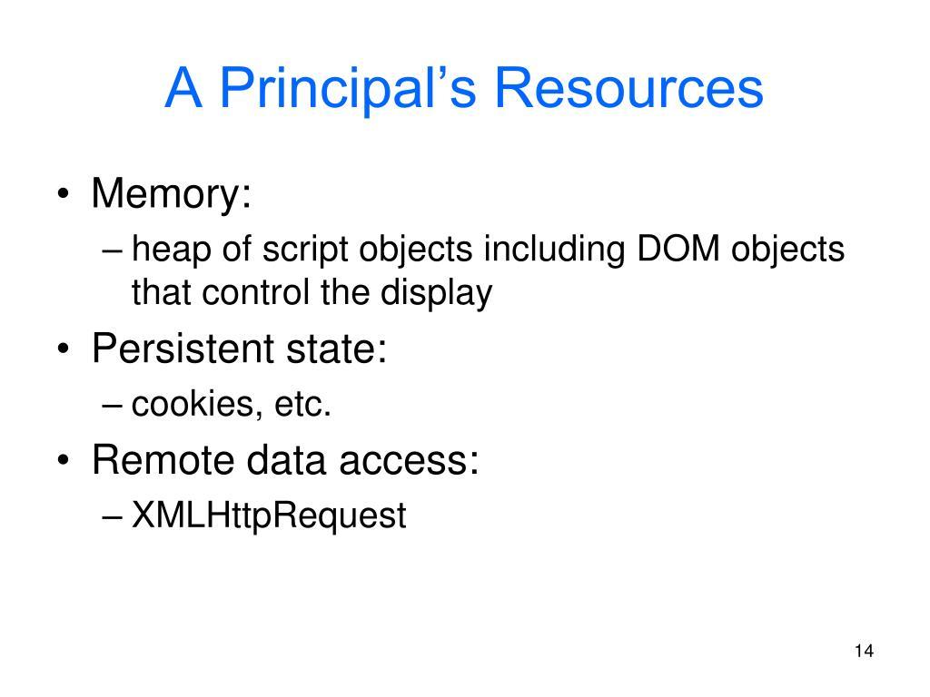A Principal's Resources