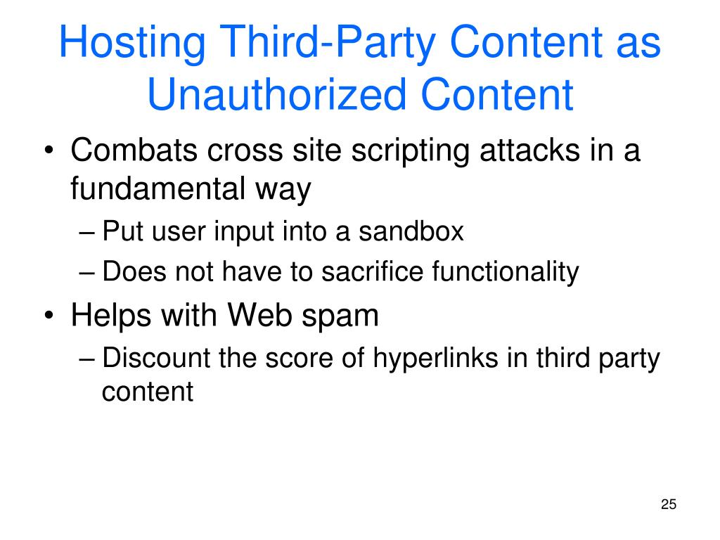 Hosting Third-Party Content as Unauthorized Content