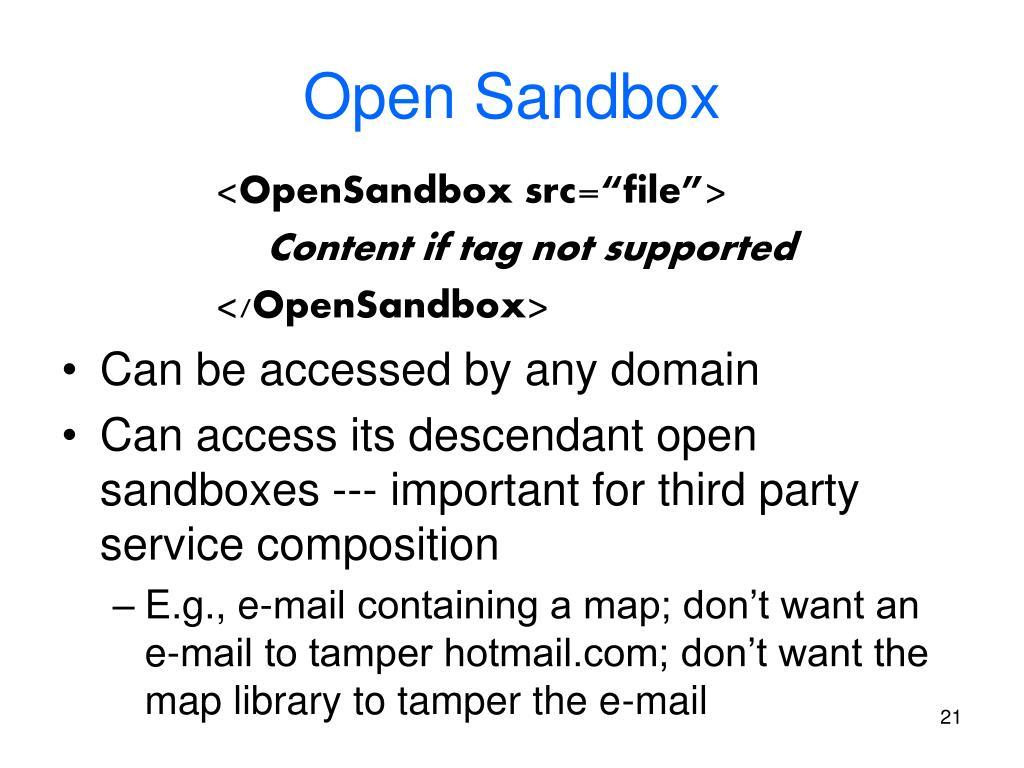Open Sandbox