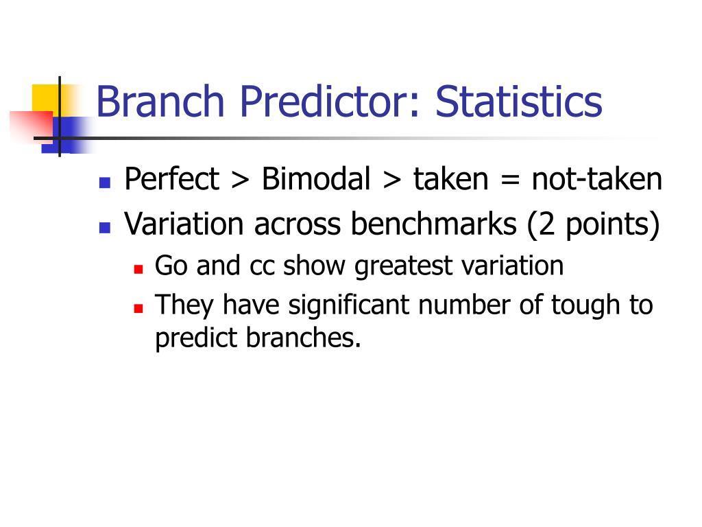 Branch Predictor: Statistics